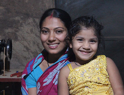 Ipshita Dutta and her daughter